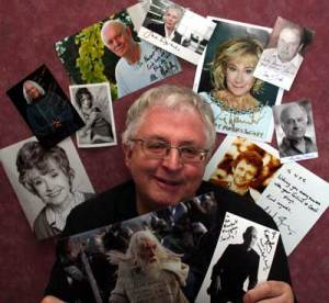 Phil Mansell with messages from celebrities